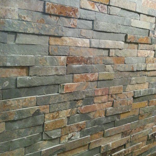 ściana z łupka multicolor