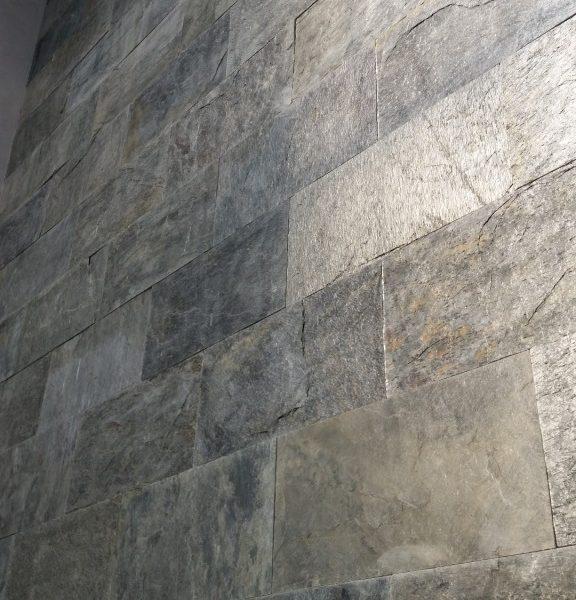 kamień naturalny łupek silver shine