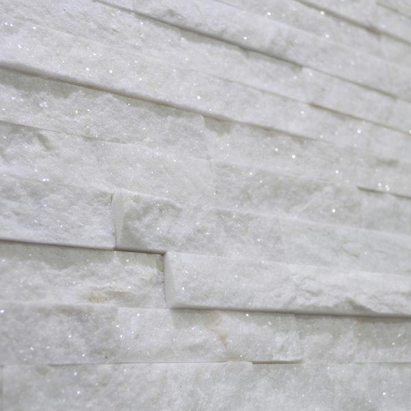 panel dekoracyjny wall crazy stackston biały z miką