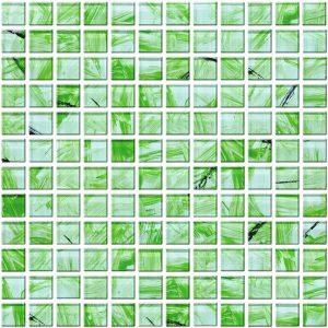 mozaika szklana zielona A-MGL08-XX-005