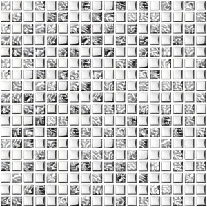 mozaika szklana srebna wzorzysta A-MGL08-XX-013