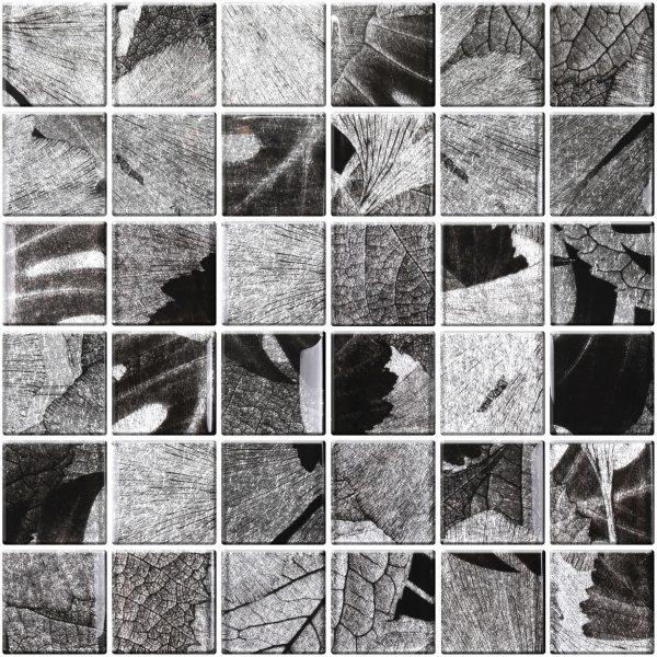 szara kostka mozaika szklana A-MGL08-XX-041