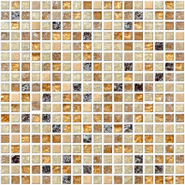 dekoracyjna mozaika z kamienia i szkła A-MMX08-XX-010