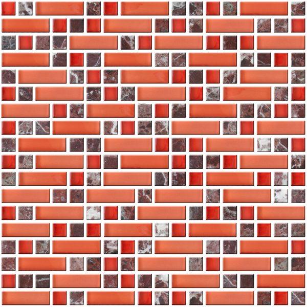 mozaika czerwona kamienna A-MMX08-XX-013