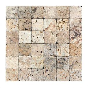 trawertyn scabos różnokolorowy kosta 10x10 kamień naturalny