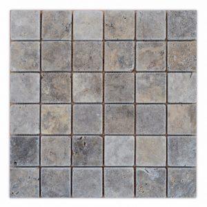 mozaika trawertynowa dekor kamienny ash szary