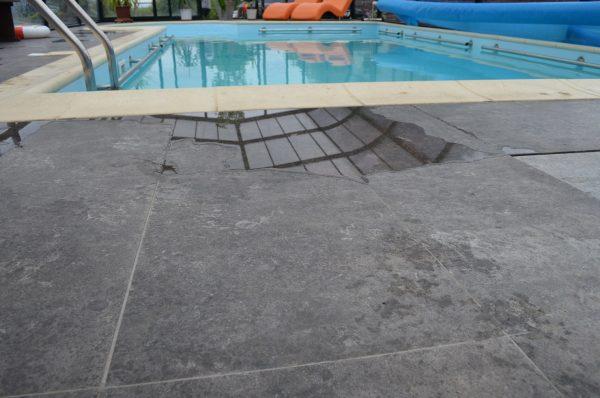 wapień na basenie szlifowany kamień naturalny