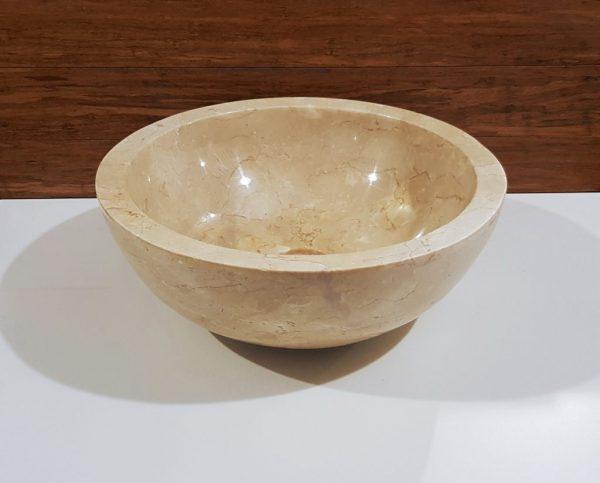 beżowa umywalka kamienna z marmuru