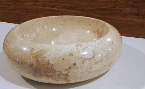 gładka misa kamienna z marmuru beżowego
