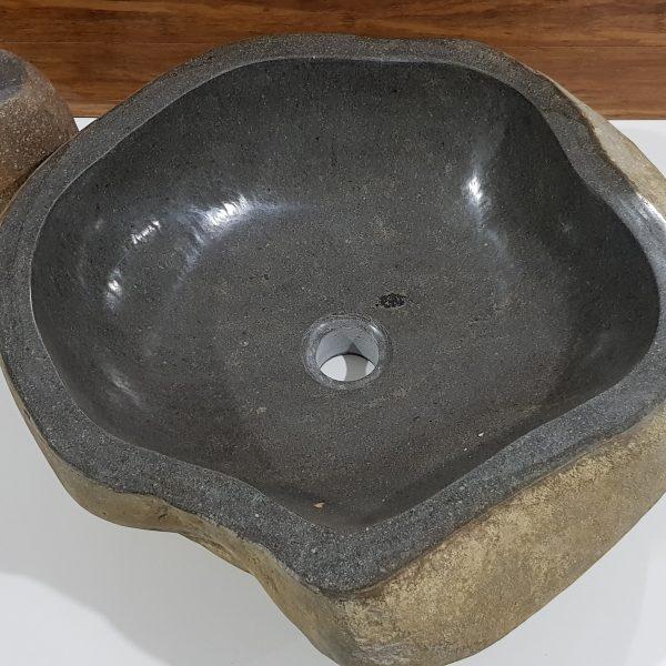 misa kamienna umywalka brąz