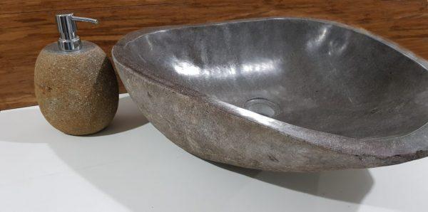 umywalka z kamienia rzecznego brązowa duża tczew