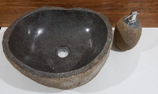 brązowa umywalka z kamienia project stone tczew