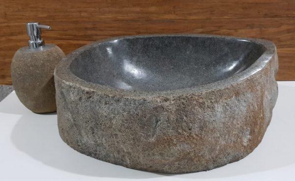 łazienkowa umywalka nablatowa z kamienia