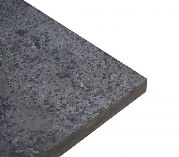 płomieniowany i szczotkowany szary wapień struktura taras project stone