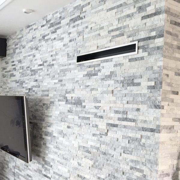 panel cloudy mix biało szary kwarcyt