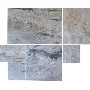szary marmur w kompletach opus pattern