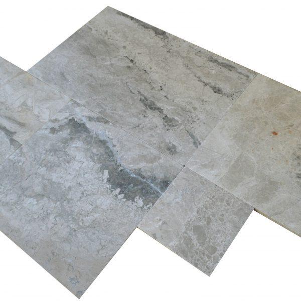 szary szlifowany bębnowany kamień naturalny